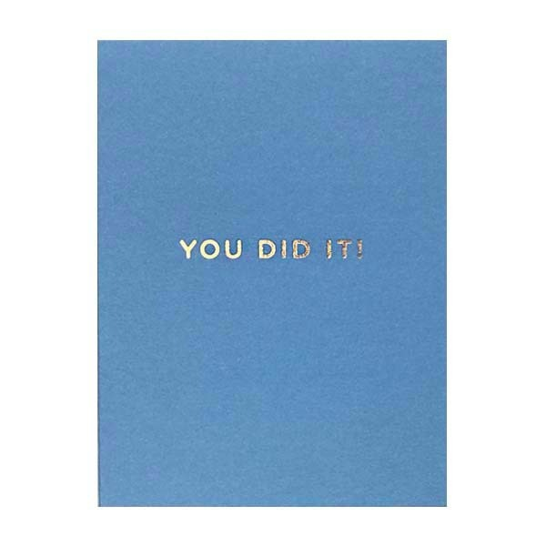 You Did It! Mini Card