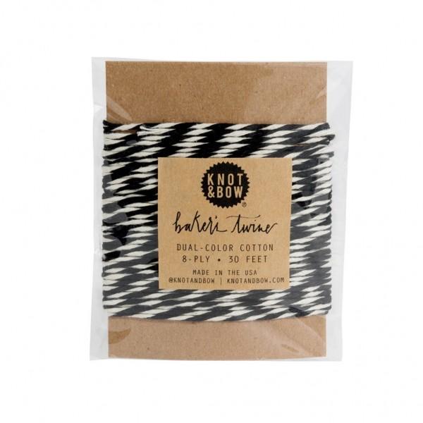 Twine Card (Black/Natural Baker's