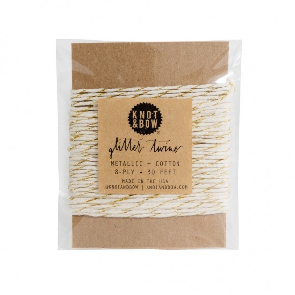 Twine Card (Gold/Natural)