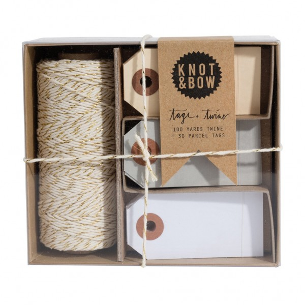 Tag + Twine Box (Gold Neutral)