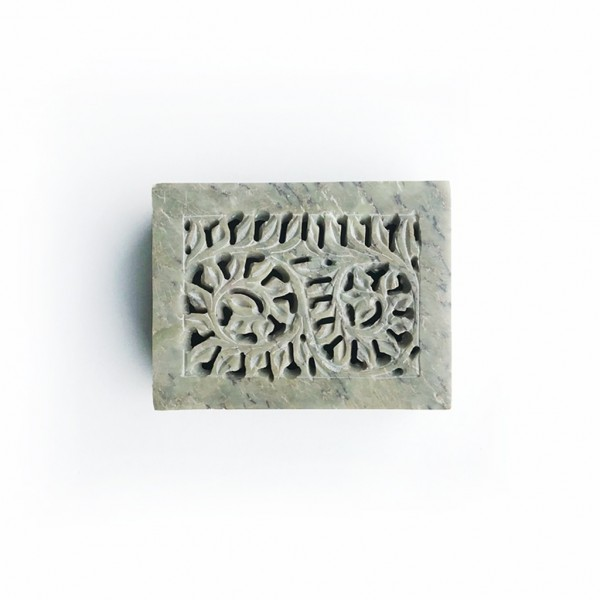 Carved Stone Green Box Mini