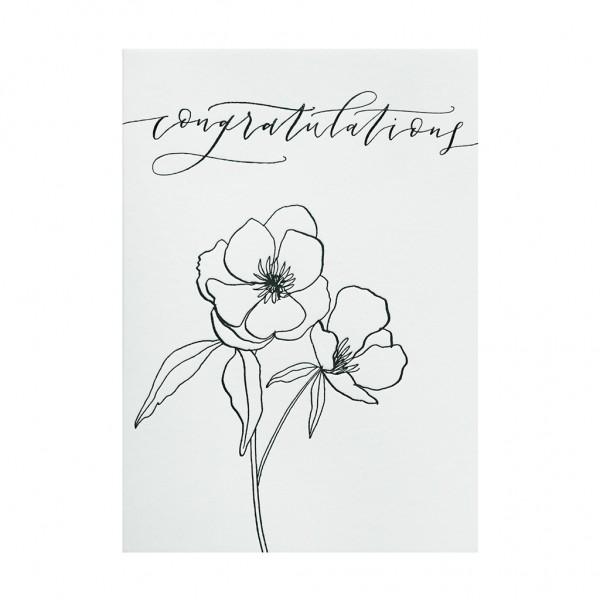GC Botanical Anenome - Congratulations