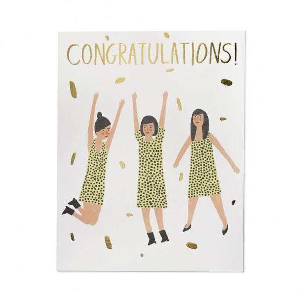 GC - Three women congrats foil