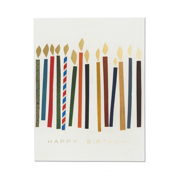 GC - Candles foil birthday