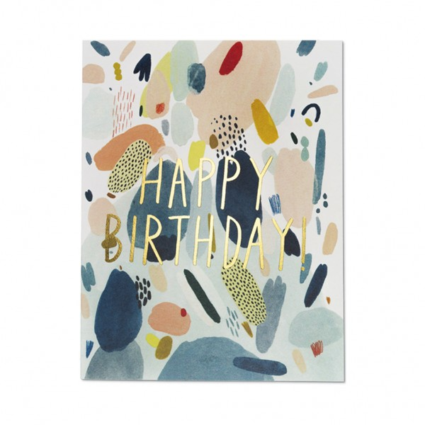 GC - Abstract birthday foil