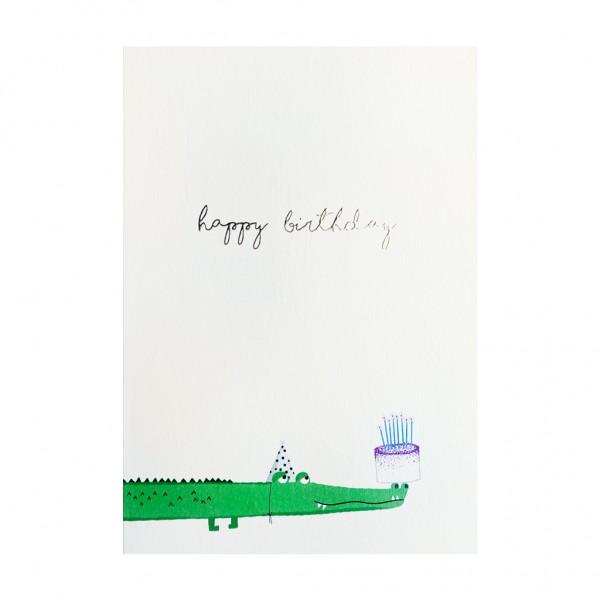 GC Happy Birthday Alligator and Cake