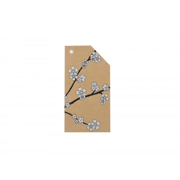 Kraft Tag Cherry Blossom
