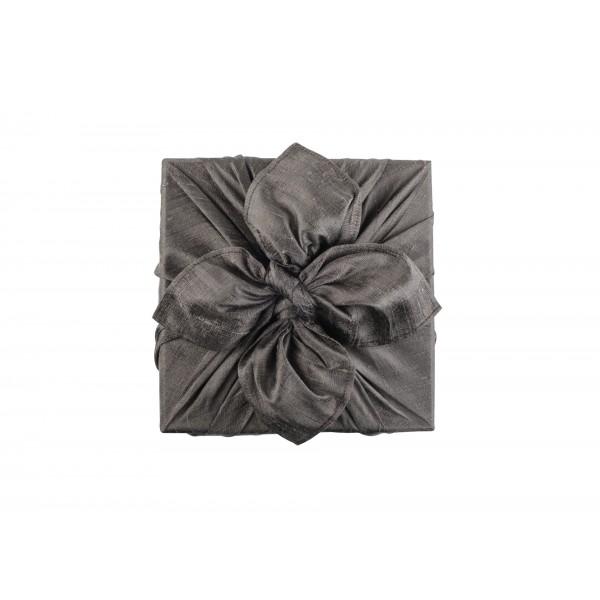 Wrapping Fabric- RawSilk Dark Grey