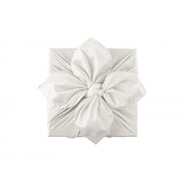 Wrapping fabric-Raw Silk Wrap Off White New