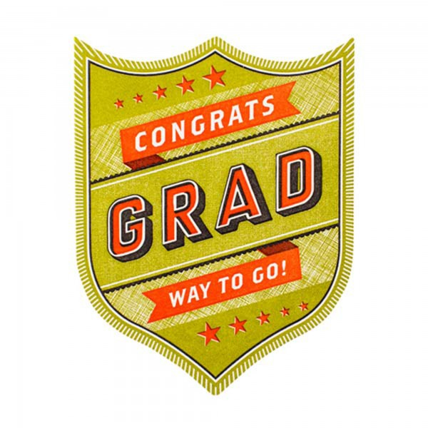Congrats Grad Badge