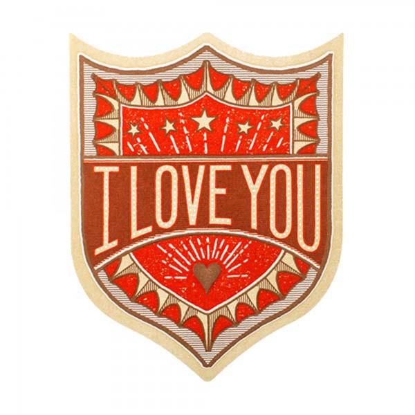 I Love You Badge