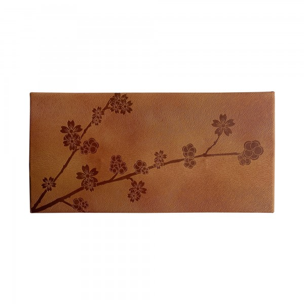 Faux Leather Pouch - Cherry Blossom