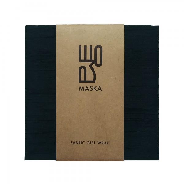 Wrapping Fabric- RawSilk  Black