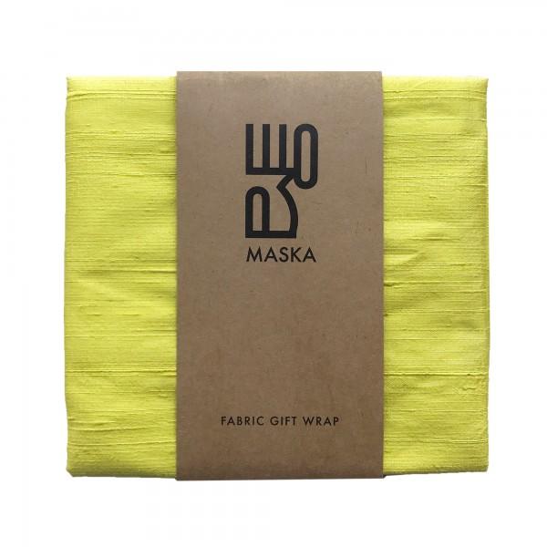Wrapping Fabric- RawSilk Yellow
