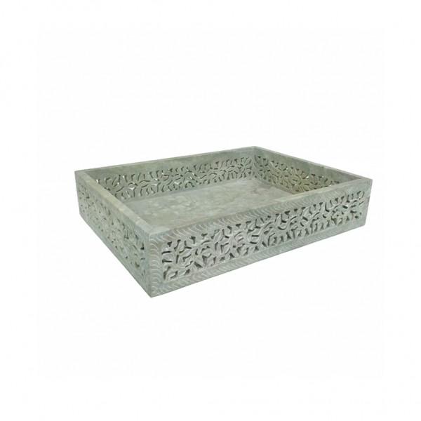 Gorara Soapstone Green Carving Tray (Large)