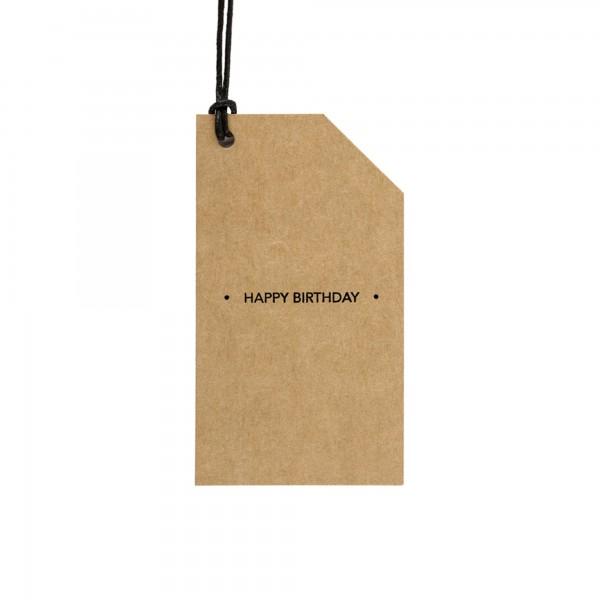 Kraft Tag Happy Birthday