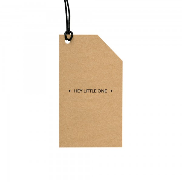 GC Kraft Tag Hey Little One (English Text)