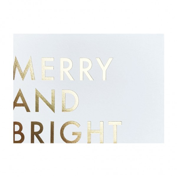 GC Merry & Bright/Gold Foil